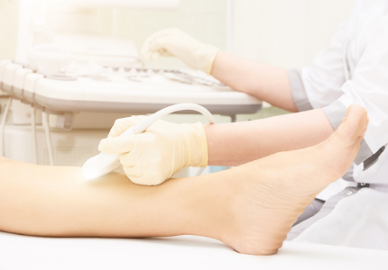 Healthcare DVT ultrasound leg scan